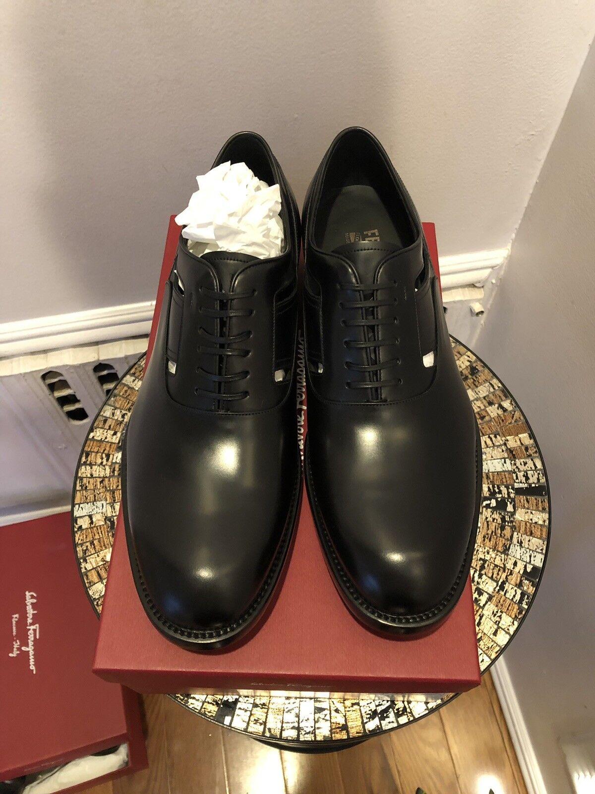 NIB SALVATORE FERRAGAMO Fort Black Leather Mens Oxford Dress shoes shoes shoes 11 EEE 6a95c6