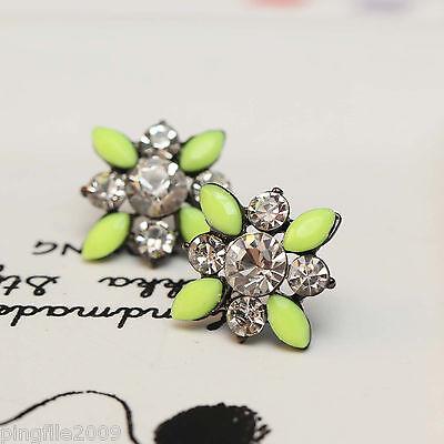 """Hot Handmade New Design Multi Color Bling Rainbow Stud Earring 13/16"""" E296"""