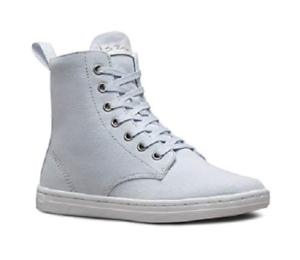 Doc Martens Luna Azul Lona Con Cordones Zapato Botín De labor UK8 US 10 Damas US9men
