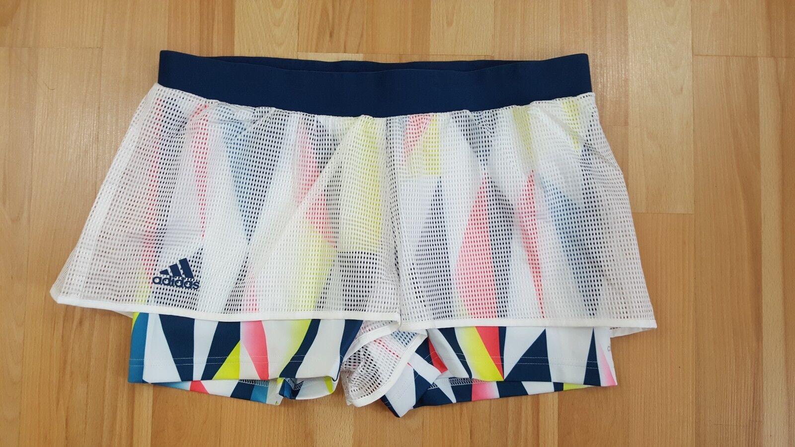 Adidas Women's  white   multi Pro tennis short Simona Halep NY collection