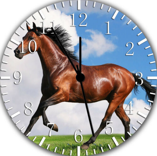 Beautiful Horse Frameless Borderless Wall Clock For Gifts or Home Decor E425