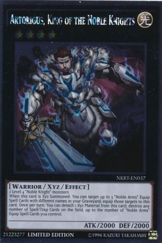 - Platinum Rare NKRT-EN037 Artorigus King of the Noble Knights