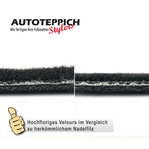 Velours Fußmatten in anthrazit BMW 5er E39 Limousine Touring Bj 1995-2004