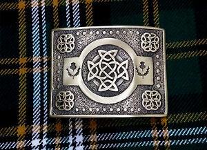 ST-Men-s-Scottish-Kilt-Belt-Buckle-Celtic-Knot-Antique-Kilt-Belt-Buckles-Thistle
