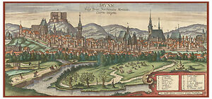 Brno-Moravia-Czech-Republic-bird-039-s-eye-view-map-Braun-Hogenberg-ca-1617