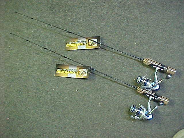 2 HT TEK PRO 27  Med LIGHT ACTION ICE COMBOS CANOE KAYAK FISHING RODS for jigs