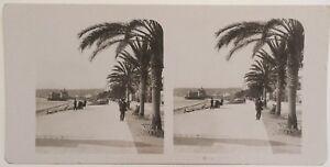 Nice Promenade Dei Inglese Foto Stereo Vintage Analogica 1904