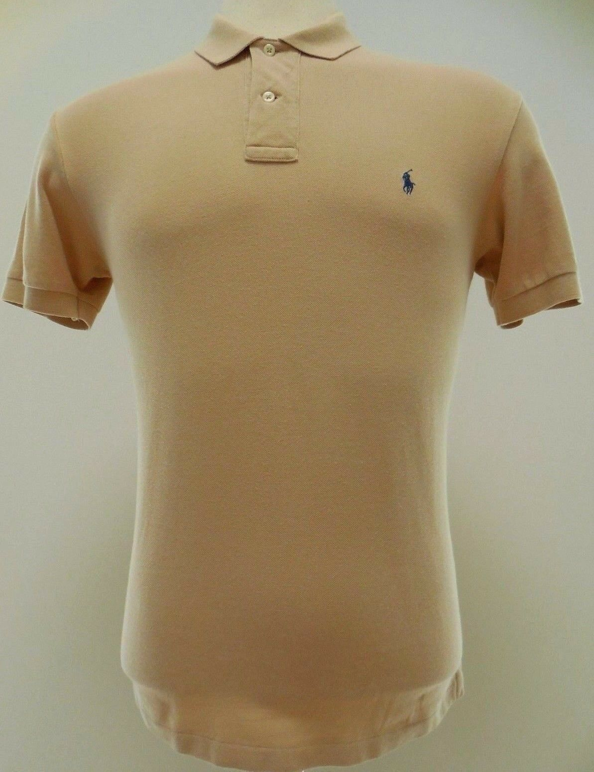 a08d85a3 Polo Ralph Lauren Polo Shirt Small Beige Tan Light Mens Cotton Men ...
