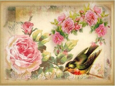 Whimsy Dust Victorian Birds Roses Quilt Block Multi Szs FrEE ShiP WoRld Wide B1