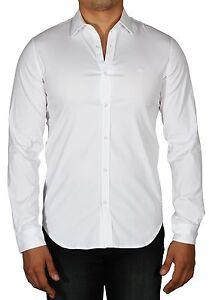 Lacoste Men s Slim Fit Stretch Cotton Long Sleeve Button Down Shirt ... 23c20b3ca0