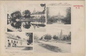 Neue Mode 73391/20 Sonnberg Gemeinde Hollabrunn Straßenzug Niederösterreich 1911 Ansichtskarten Österreich