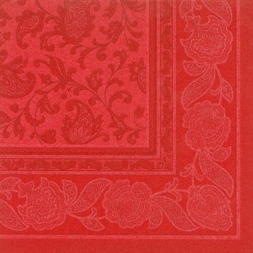 """50 rote Premium Servietten ROYAL 1//4-Falz 40 cm /""""Ornaments/"""" Party FSC®"""