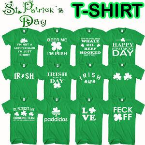c038bb98f La foto se está cargando St-Patricks -Dia-camiseta-Duende-Irlanda-irlandes-Paddy-