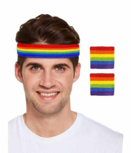 New Rainbow Gay Pride Carnival Stag Hen Party Hat Tie Socks /& Headband Accessory