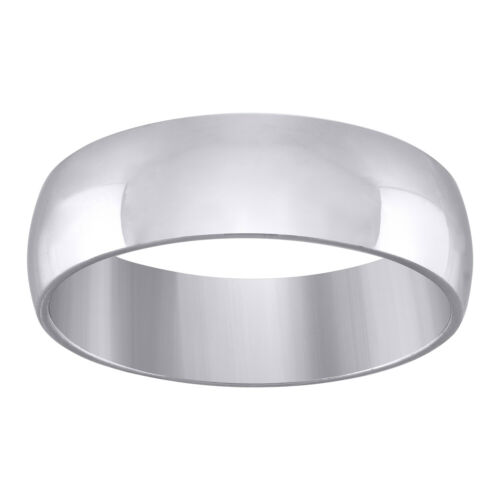925 Sterling Silver Mens 7mm-Sizes 7-12 Dome Comfort-fit Wedding Engagement An