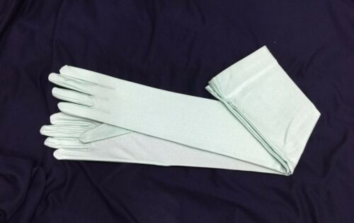 """23/"""" Matte Opera Glove Stretch With Spandex.Prom.Halloween.Pick Your Color !"""