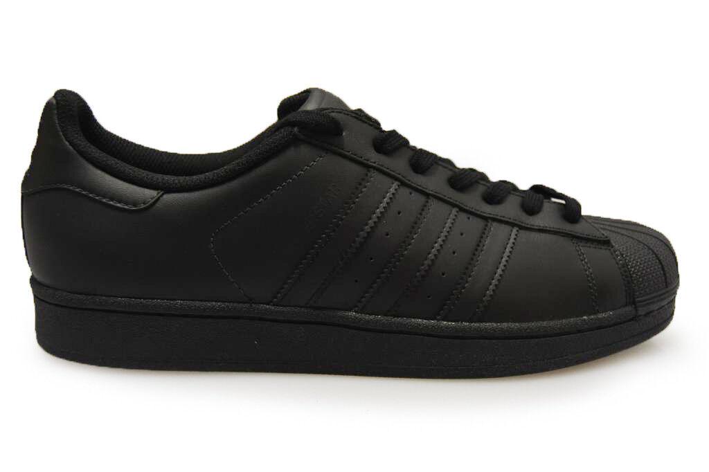 Herren Adidas Superstar - AF5666 - Dreifach schwarze Turnschuhe