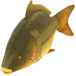 Carp fishing fish shaped cushion pillow soft toy great for Fish shaped pillow