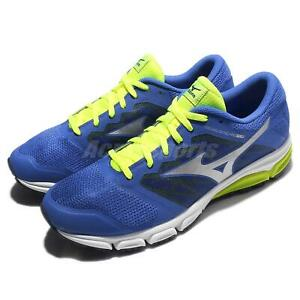 Mizuno-Synchro-MD-2-Blue-Silver-Yellow-Men-Running-Shoes-Sneakers-J1GE1718-04