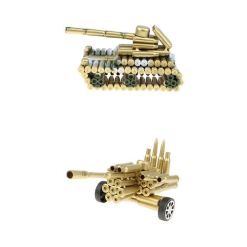 2pcs Modèle de Tank Balle Shell Rétro Classique Fait Main Fer Moto