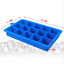 Large Silicone Food Grade 15 Cavity Ice Cube Tray Ice Square Mold Cubes GO9