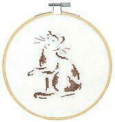 DMC Counted Cross Stitch Kit-CHATS /& CHIENS-Hoop inclus-Playful Cat