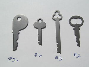 National Cash Register Keys #1, #6, #5, #2, 400 class & 500 class