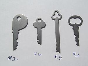 National Cash Register Keys #1, #6, #5, #2, 400 class & 500 class