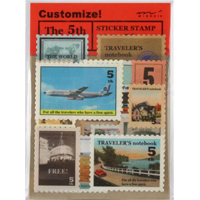 Vintage Paper Sticker Classic Old Paris London Stamp Stickers DIY Diary Album IO