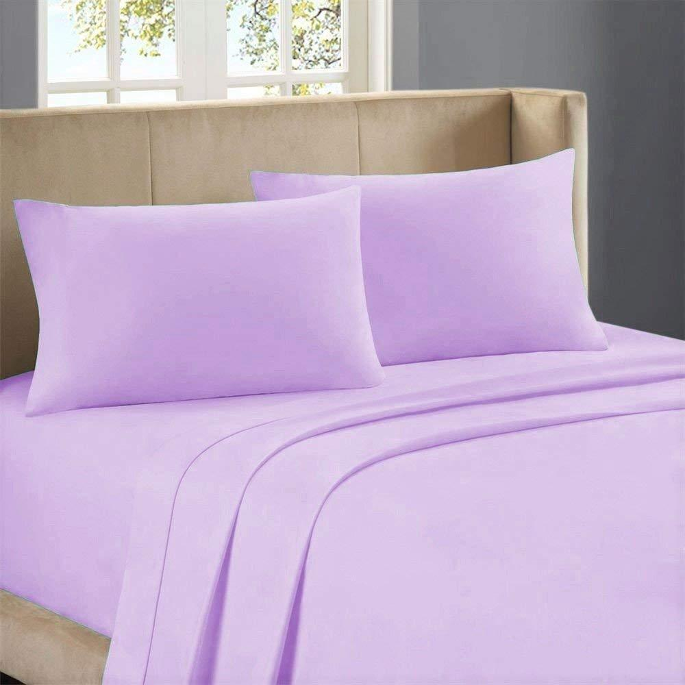 USA Bedding Items All Sizes 1000 Thread Count Egyptian Cotton purplec Solid Stripe