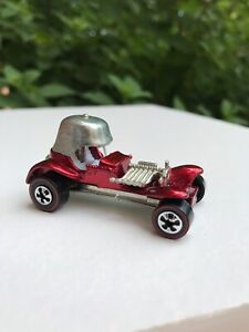 Vintage-automovil-De-Fundicion-Mattel-Hot-Wheels-Redline-reedicion-Red-Baron-Blanco-Interior