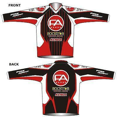 Free Agent Agent Agent Factory Team Jersey ROT/Wht/Blk XX-Large Bike fd1021