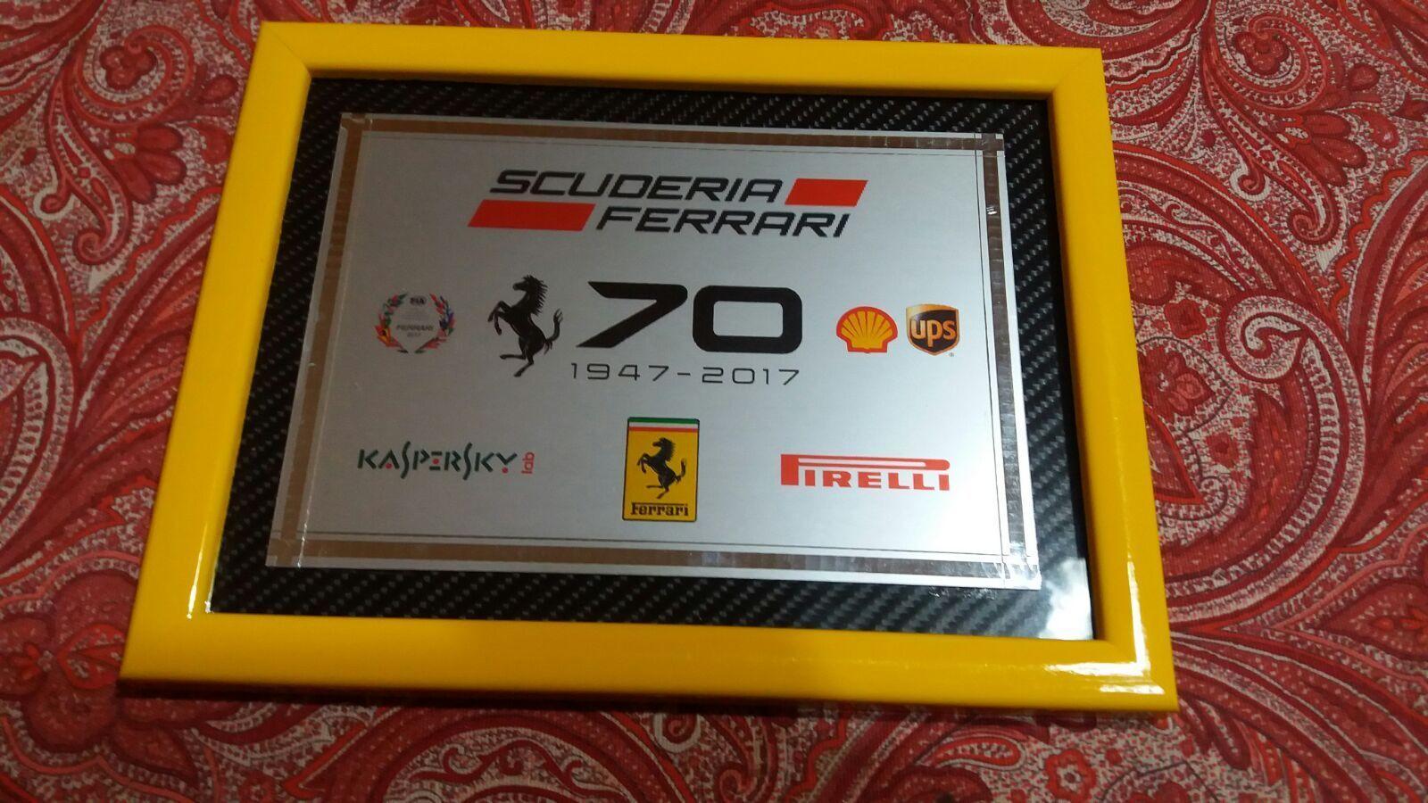 QUADRO LOGO Targa FERRARI 70 ANNIVERSARIO  Ferrari 70Th 70Th 70Th Anniversary  7bcb4f