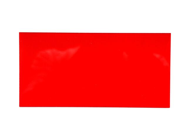 2pc Acrylic sheet 200x100x2mm Transparent Red Taiwan