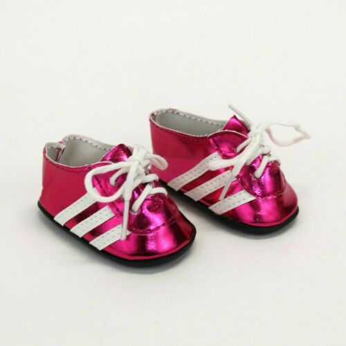 Soccer Cleats for American Girl Dolls 18 Inch Doll Soccer Shoes Hot Pink