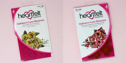 Heartfelt Creations OAKBERRY LANE BLOSSOMS Die /& Stamp Set HCD1-7200 HCPC-3842