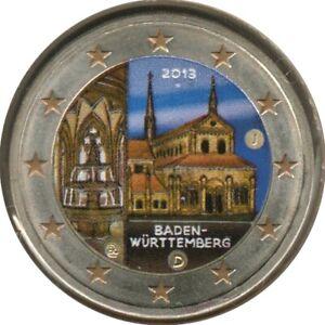 AL20013.4J - ALLEMAGNE - 2 euros commémo. Colorisée Bade-Wurtemberg - 2013 J