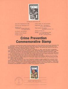 8431-20c-Crime-Prevention-Stamp-Scott-2102-USPS-Souvenir-Page