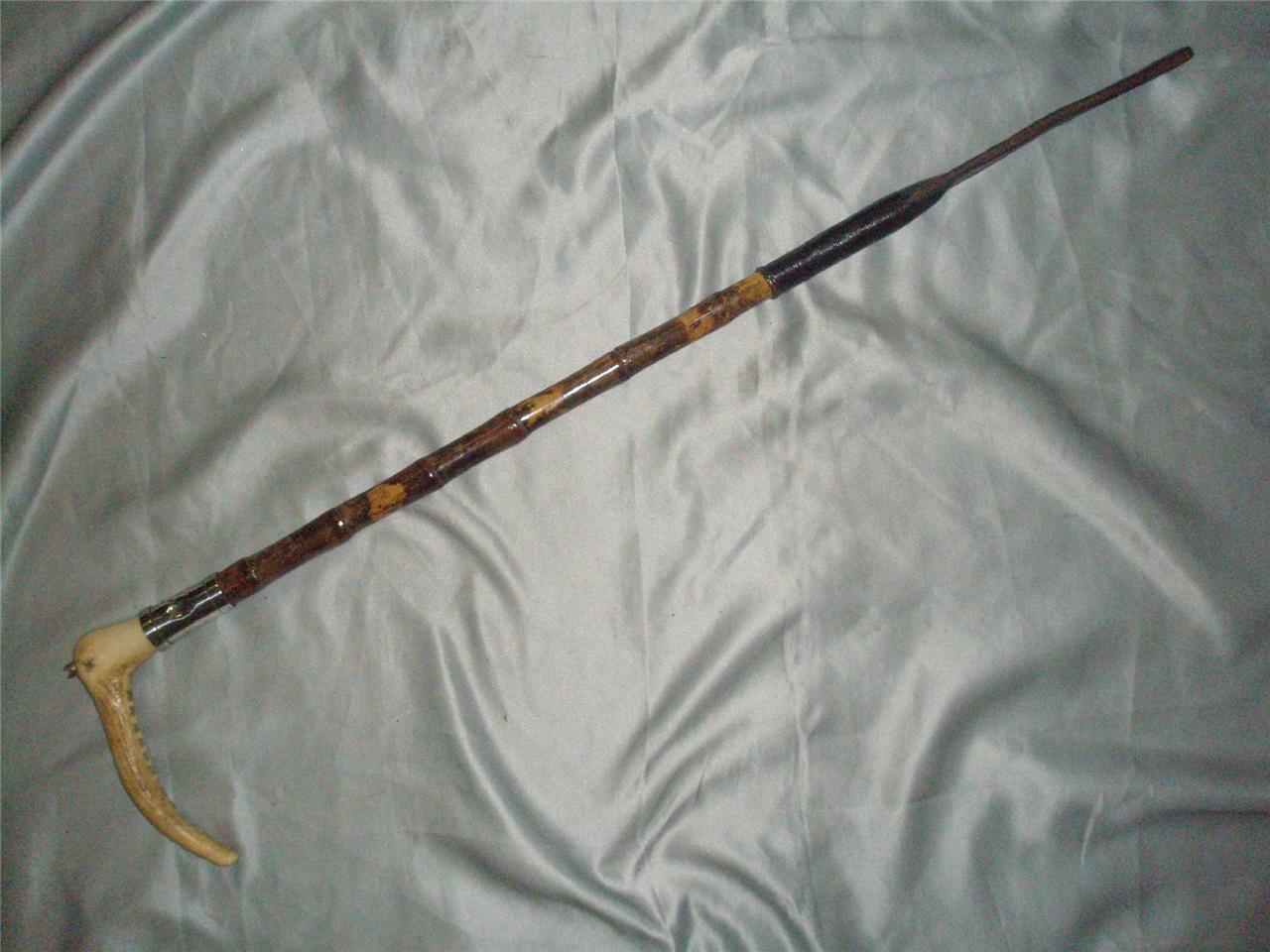 Antiguo Bambú Gentlemans Sellado Hunt Whip. By Champion & Wilton.