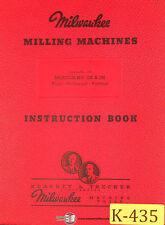 Kearney Amp Trecker 2k Amp 3k Plain Universal Vertical Milling Machine Instruction