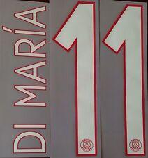 2015-16 DI MARIA#11 UCL Home Shirt OFFICIAL MonBlason Name Number Set