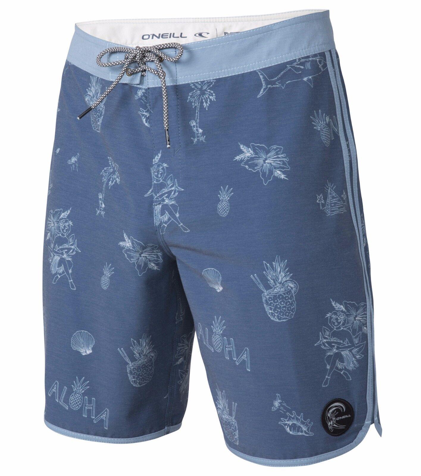 O'Neill RETROFREAK BRALOHA Mens Polyester Cotton Boardshorts Size 32 NEW 2017