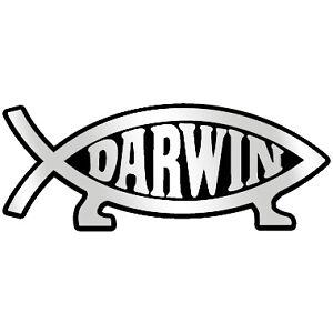 Tuna Darwin Fish 5 Chrome Auto Emblem