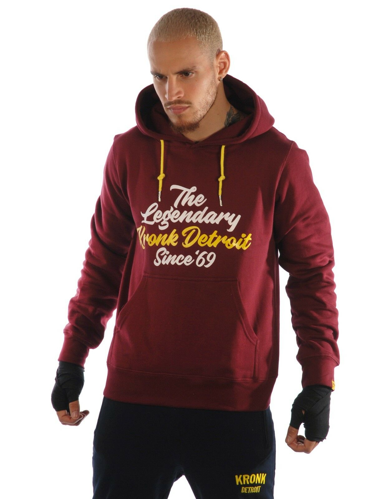 KRONK Legendary Heavyweight Cotton Hoodie Maroon