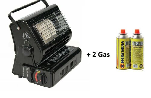 Portable Camping Gas Heater Element Safe Grill Butane Carry Handle Outdoor