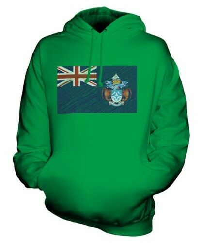 TRISTAN DA CUNHA SCRIBBLE FLAG UNISEX HOODIE TOP GIFT FOOTBALL