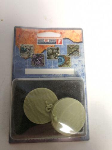 Desert // Wüsten Bases 2 Stück Round 40 mm OVP geeignet für 28mm Tabletop