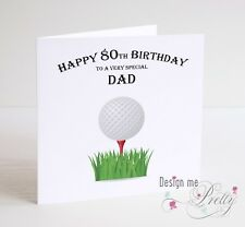 Item 2 PERSONALISED GOLF Birthday Card