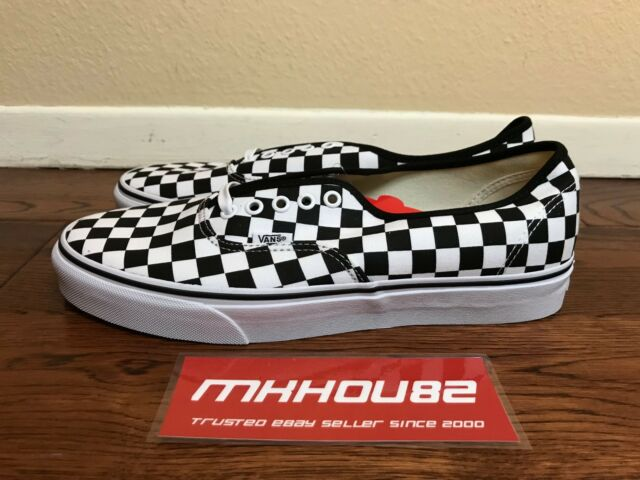 New Vans Authentic Checkerboard Checkered Black White Era Shoes Size 10.5
