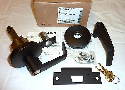 Falcon W161 DAN 613 Communicating Exit Lock Deadlocking Lever Set DARK BRONZE